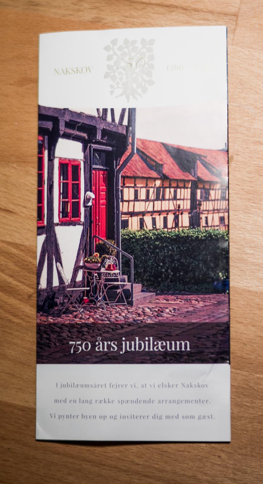 Nakskov 750 års jubilæums folder